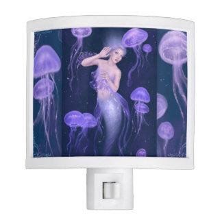 Luz de la noche de la sirena de las medusas de la  luces de noche