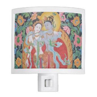 Luz de la noche de Radha-Krishna Lámparas De Noche