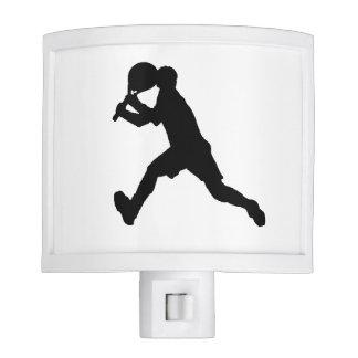 """Luz de la noche del """"jugador de tenis"""" lámpara de noche"""