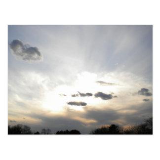 Luz de la postal de los cielos