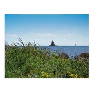 Luz de la roca de la raza - isla de los tarjetas postales