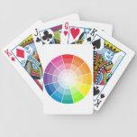 Luz de la rueda de color baraja cartas de poker
