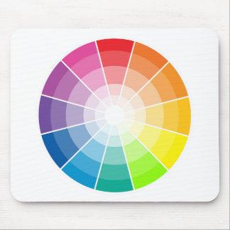 Luz de la rueda de color alfombrillas de raton