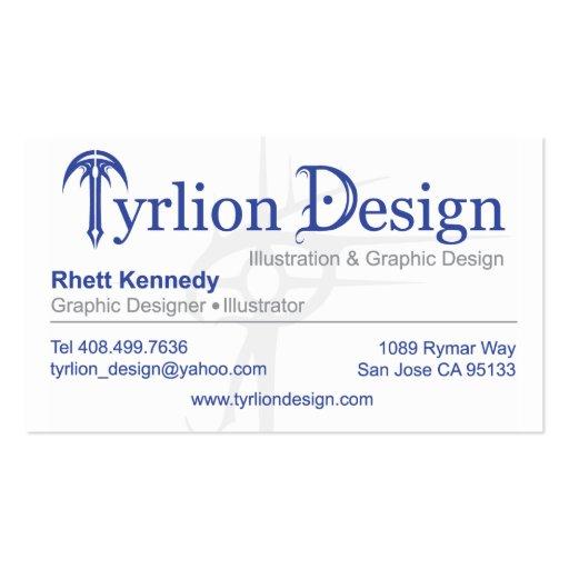 Luz de la tarjeta de visitas del diseño de Tyrlion Tarjetas De Visita