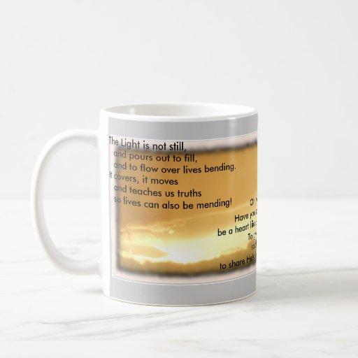 Luz de la taza de dios grande