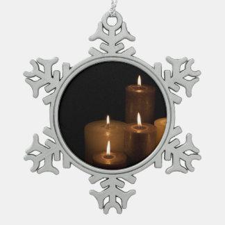 Luz de la vela adornos