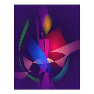 Luz de la vela con el rosa flyer a todo color