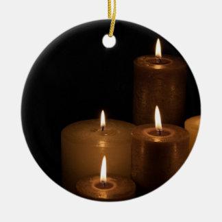 Luz de la vela ornamentos para reyes magos