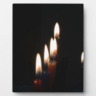 luz de la vela placas de plastico