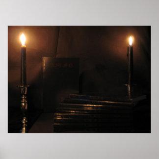 luz de la vela póster