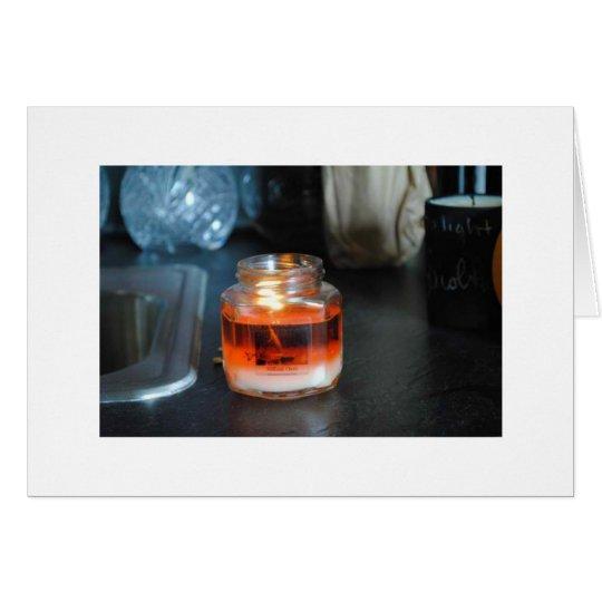 Luz de la vela tarjeta de felicitación
