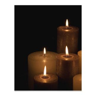 Luz de la vela tarjetas informativas