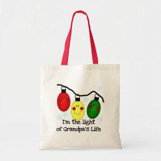 Luz de las camisetas y de los regalos del día de f bolsa tela barata