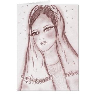 Luz de las estrellas Maria en arándano Tarjeta De Felicitación