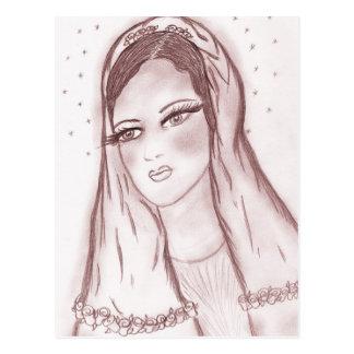 Luz de las estrellas Maria en arándano Tarjeta Postal