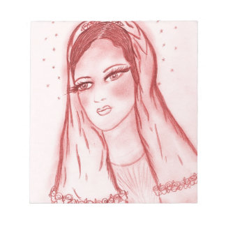 Luz de las estrellas Maria - en rojo Bloc De Notas