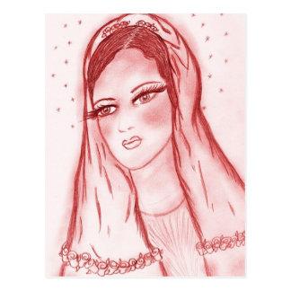 Luz de las estrellas Maria - en rojo Postales