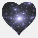 Luz de las estrellas pegatina en forma de corazón