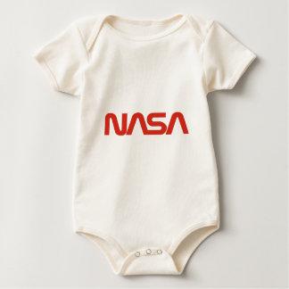 LUZ de logotipo roja de la serpiente de la NASA Traje De Bebé