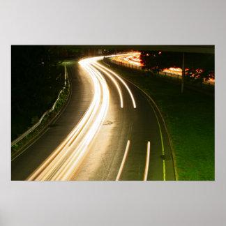 luz de los coches de la vida de noche de Boston mA Impresiones