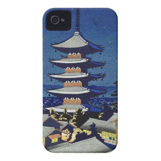 Luz de luna en la pagoda Asano Takeji de Yasaka iPhone 4 Cárcasa