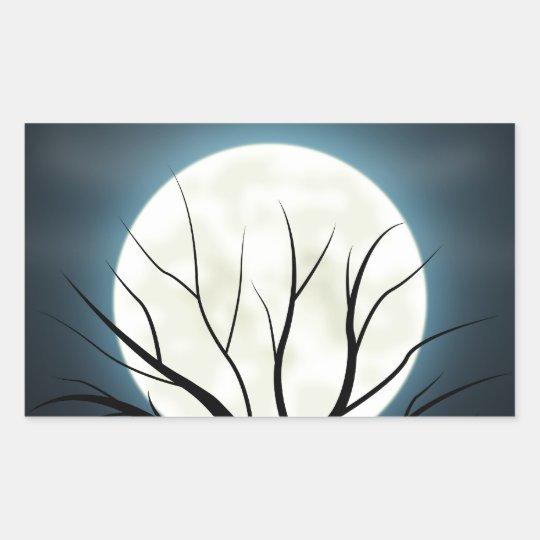 luz de luna pegatina rectangular