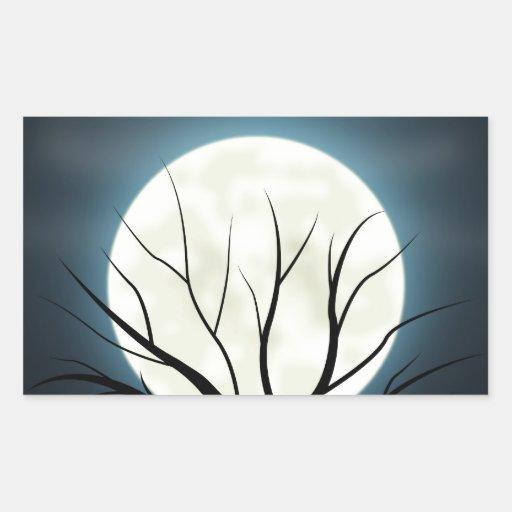luz de luna rectangular pegatina