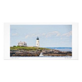Luz de madera de la isla tarjetas fotográficas