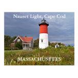Luz de Nauset, Cape Cod, postal de Massachusetts