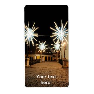 Luz de navidad, Sibiu Etiqueta De Envío