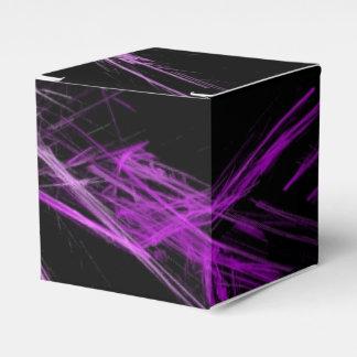 luz de neón rosada del fractal caja para regalos