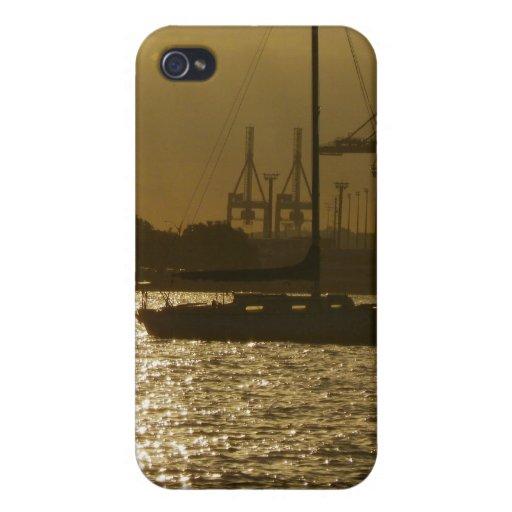 Luz de oro del barco iPhone 4/4S carcasas
