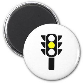 Luz de parada amarilla imán redondo 5 cm