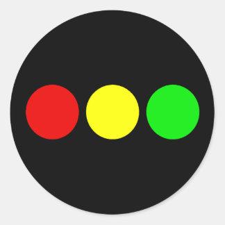 Luz de parada horizontal pegatina redonda