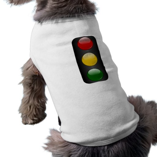 Luz de parada playera sin mangas para perro