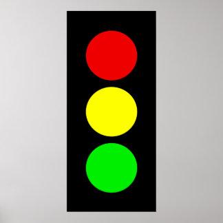 Luz de parada póster