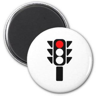 Luz de parada roja imán redondo 5 cm