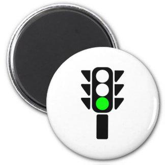 Luz de parada verde imán redondo 5 cm