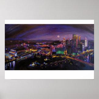 Luz de Pittsburgh Poster