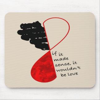 Luz de sentido del amor Mousepad