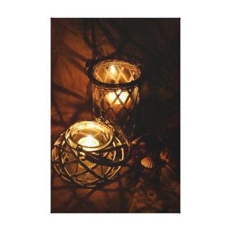 Luz de una vela creativa impresion en lona