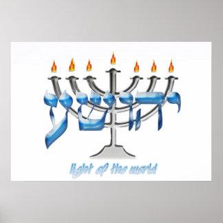 Luz de YHWSHUA del mundo Posters