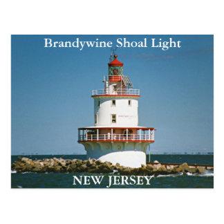 Luz del bajío de Brandywine, postal de New Jersey