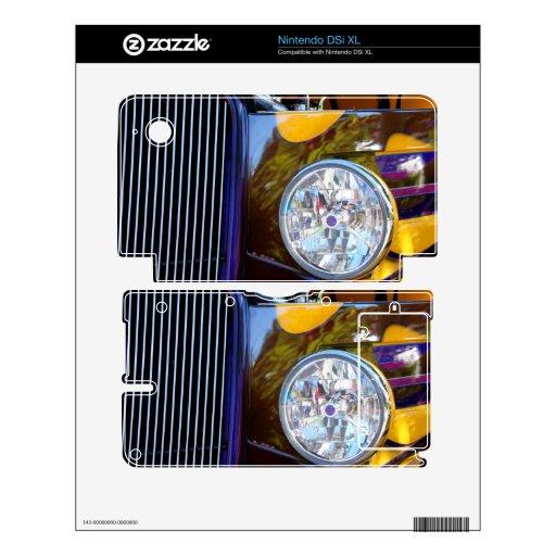 Luz del coche de la demostración del coche de carr skins para DSi XL