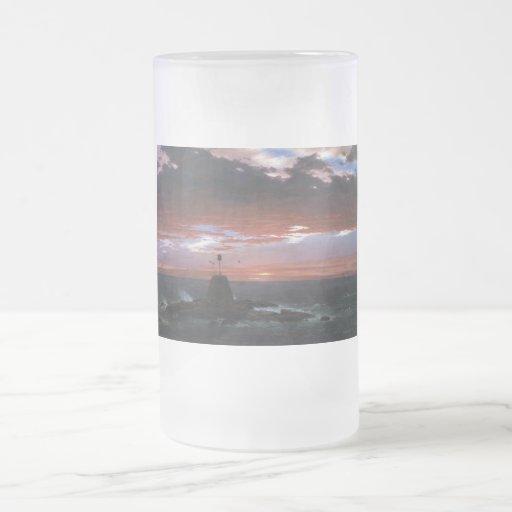 Luz, del desierto del soporte de Islandia por la i Tazas De Café