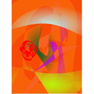 Luz del día anaranjada escultura fotografica