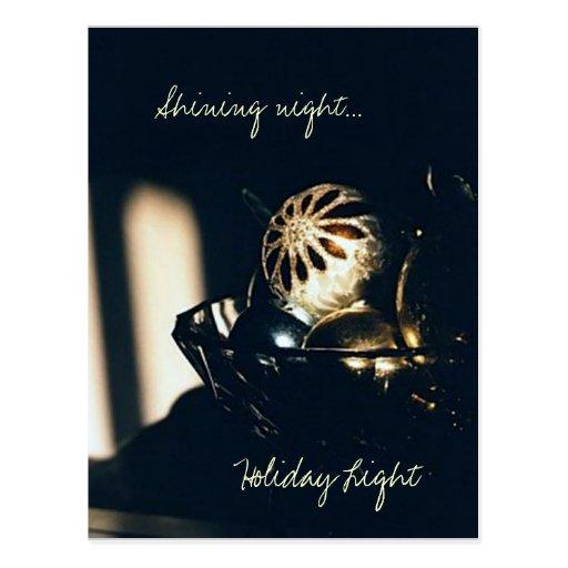 Luz del día de fiesta tarjeta postal