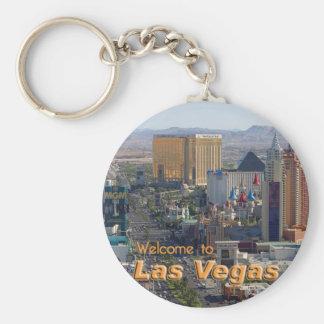 Luz del día en la tira de Las Vegas Llavero Redondo Tipo Pin