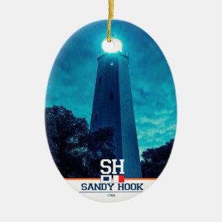 Luz del gancho de Sandy Adorno Ovalado De Cerámica