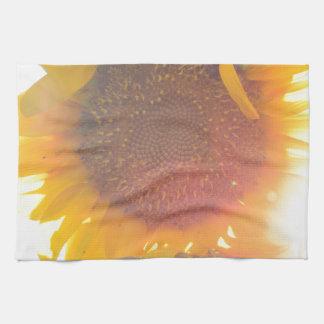 Luz del girasol toallas de mano